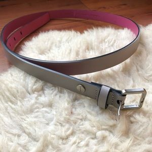 Calvin Klein Grey/Pink Leather Belt | L